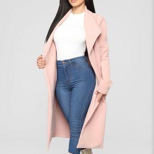 Fashion Nova Kamela Coat - Blush